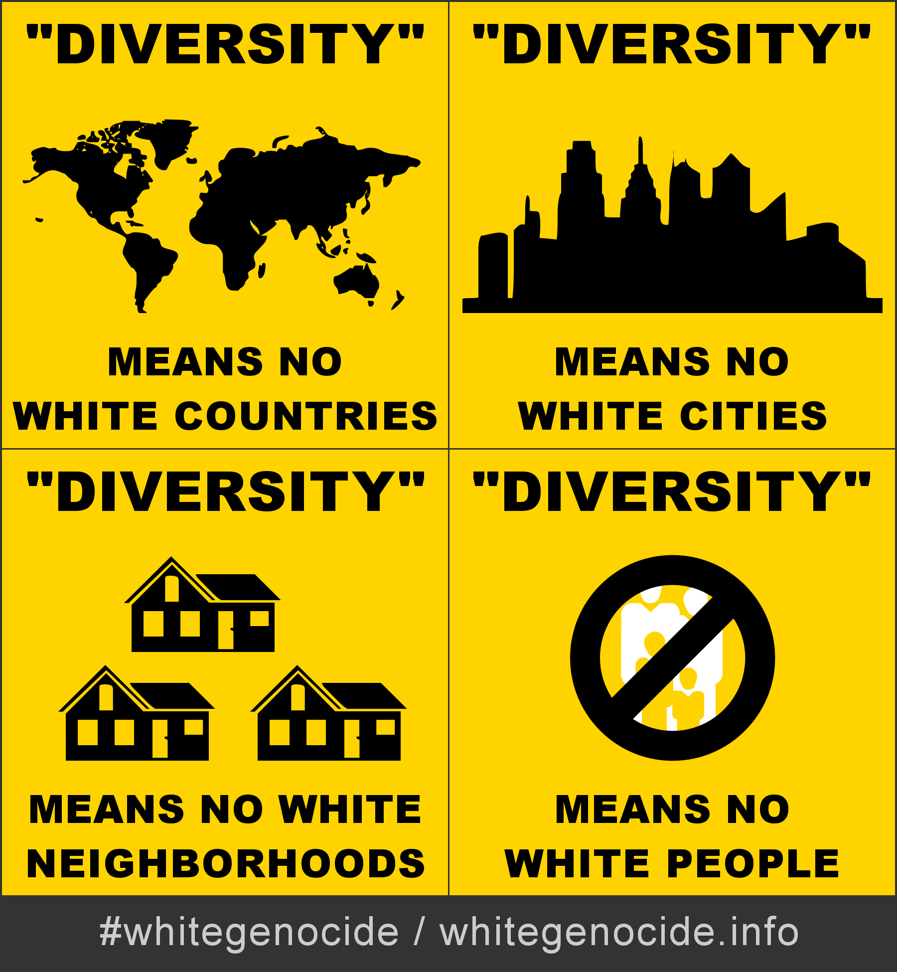 graphic - diversity means no white