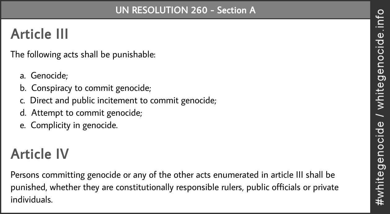 infographic - un resolution 260 article III and IV
